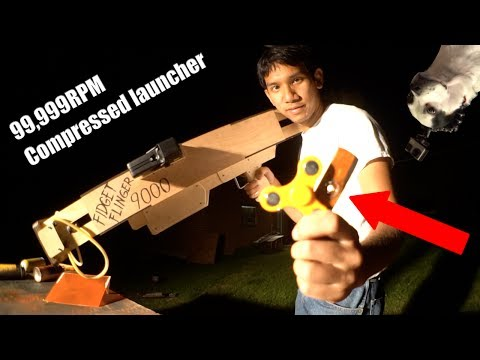 Extreme 99,000 RPM Fidget spinner Launcher Bazooka Thing