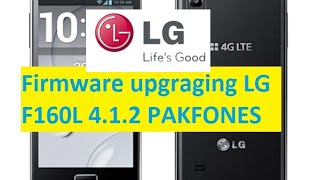 How to flash LG F160 kdz method