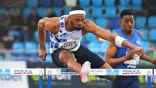Liévin 2020 : Finale 60 m haies M (Aurel Manga en 7''65)