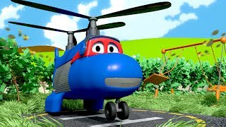 Carl the Super Truck is The Cargo Plane in Car City  Trucks Cartoon for kids