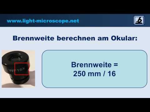 Brennweite berechnen Mikroskop / Okular / Objektiv