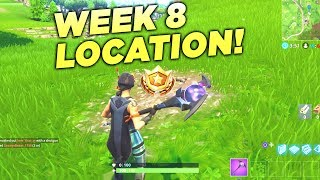 "Fortnite ""Search between a Bear, Crater and a Refrigerator Shipment"" Location Week 8 Battle Star!"