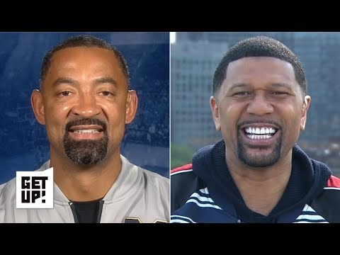 Jalen Rose interviews Juwan Howard about Fab Five reunion, Michigan head coaching job | Get Up!