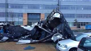preview picture of video 'Sturmschaden nach Orkan Christian an der Uni-Flensburg'