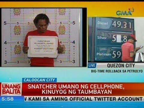 [GMA]  UB: Snatcher umano ng cellphone, kinuyog ng taumbayan