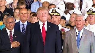 President Trump Speech at Commissioning of USS Gerald R. Ford 7/22/17
