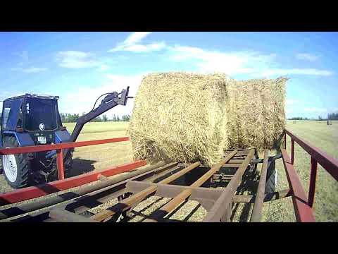 перевозка рулонов сена