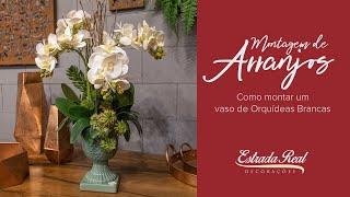Aprenda como montar um belo arranjo de orquídeas artificiais no modelo de cacho.