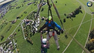 Дельтапланириста забыли пристегнуть в Швейцарии и он чуть не сорвался с высоты