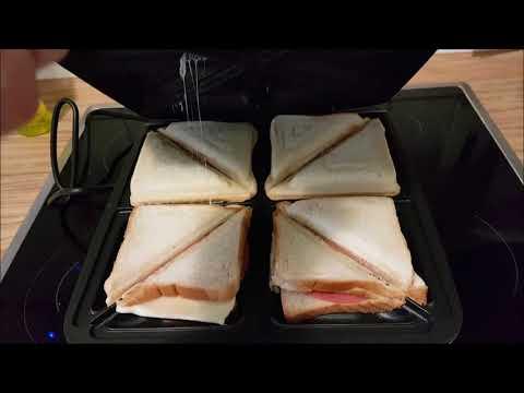 Cloer 6269 Sandwichmaker XXL 1800 W für 4 Sandwiches American Toast XXL-Füllung