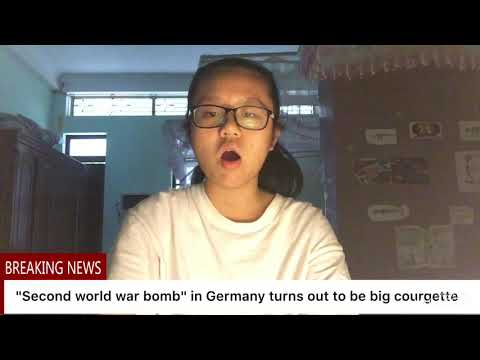 """Week 11, Oct 5: """"second world war bomb"""" turns out to be big courgette - Emily"""