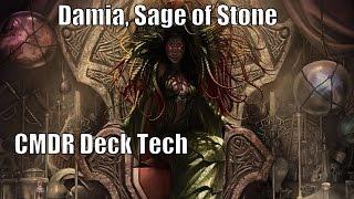 Stephen's Damia, Sage of Stone CMDR Deck [EDH / Commander / Magic the Gathering]