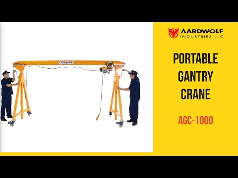 Portable Gantry Crane AGC-1000 - Video 2