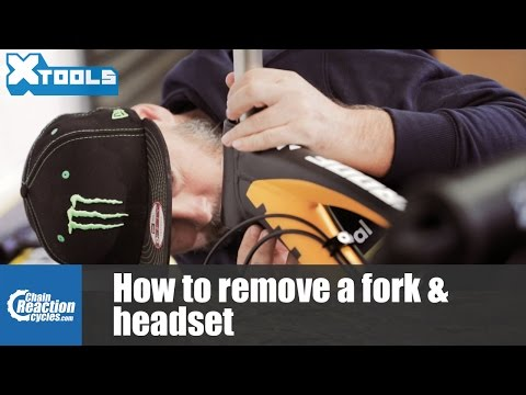 How to remove a mountain bike fork and headset