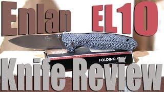 Enlan EL10 Budget Pocket Knife Review.  Well built and about $15.
