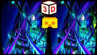 3D Roller Coaster 08 VR Videos 3D SBS [Google Cardboard VR Experience] VR Box Virtual Reality Video