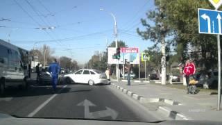 Авария на перекрестке Анапское шоссе и ул.Тобольского Новороссийск.