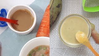3 BABY FOOD PUREES | IRON-BOOSTING &  WEIGHT GAIN BABY MEAL FROM 6M+