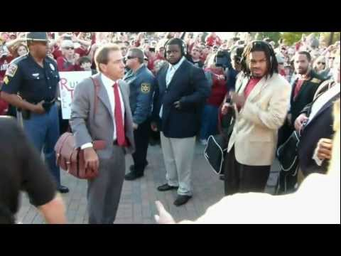 ★NICK SABAN MAD LEAVING FROM ALABAMA BUS ★BAMA VS LSU★WALK OF CHAMPIONS VIDEO | 2011 2012 | BCS