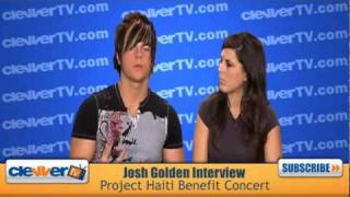 Josh Golden Talks Project Haiti Benefit Concert