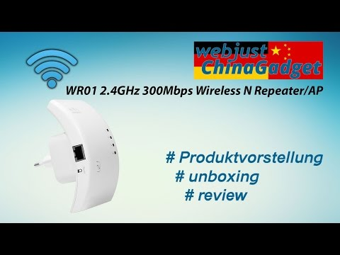 WR01 2.4GHz 300Mbps Wireless N Repeater / AP [ unboxing - review - german/deutsch ]