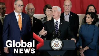 Wybuch koronawirusa: grupa zadaniowa Białego Domu, Mike Pence, aby zapewnić aktualizację COVID-19   RELACJA NA ŻYWO w jezyku angielskim