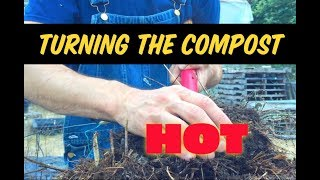 Turning Compost with Matt Powers pt 1 TOO MUCH HEAT - What To Do!