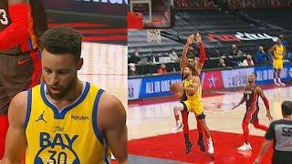 Stephen Curry Shocking Layup & Damian Lillard Shows Up In The Clutch! Warriors vs Blazers