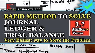 Introduction to accounting - Journal || Ledger and Trial balance with Solved Problem :by kauserwise