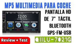 Qiilu Reproductor MP5 Radio De Coche 7 Pulgadas Táctil HD Bluetooth GPS | UnBoxing Review Español