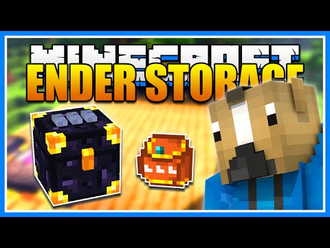 Minecraft ENDER STORAGE Mod Showcase! Ender Chests, Tanks, Pouches! (Minecraft 1.9.4 Mod Tutorial)