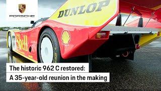The Porsche 962 C restored to original glory
