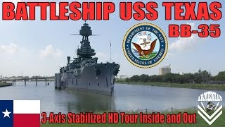 US Navy Battleship USS Texas BB-35 / DJI Osmo HD Tour Inside and Out
