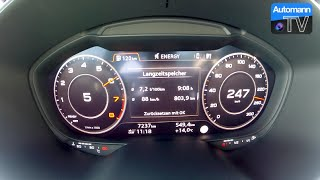 2015 Audi TT (230hp) Manual - 0-250 km/h acceleration (60 fps)