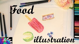 How To Draw Food Illustrations | Desserts & Fruit | POP ART