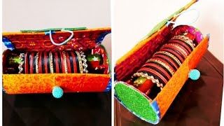 Bangle Box Making At Home\ How To Make Bangle Storage  Box \ Bangle Box From Cardboard \