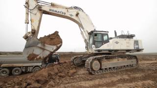 Komatsu PC800LC loading trucks and ADT´s