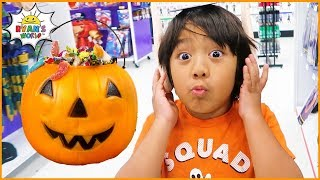 Ryan Shopping For Halloween Costumes To Trick Or Treat!!!