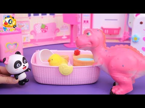 Dinosaur Story,Panda Fireman Rescue Team, Baby Panda's Cooking Competition  Kids Toys Story   ToyBus