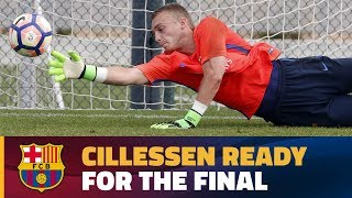 Jasper Cillessen's preparations for the Copa del Rey final