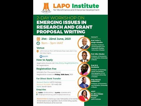 Fundamentals of Grant Proposal Writing