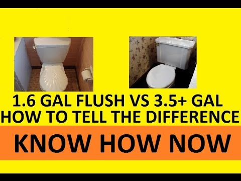 Low Flush vs Full Flush Toilet -  How to Tell the Difference