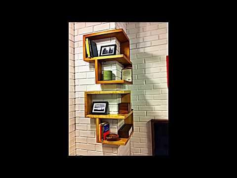Designs für Ihr selbstgebautes Eckregal -- Raumsparende Ideen fürs Haus