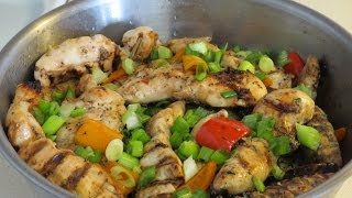 Grilled Chicken Tenderloins Marinated In Italian Dressing