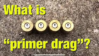 "What is ""primer drag"" in handguns?"