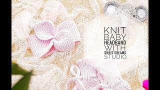 KNIT EASY BABY BOW HEADBAND