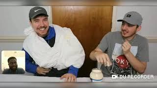 """Reacting to MrBeast Video On : (Skits) """" Molten Lava Vs.Giant Ice Block"""" !"""