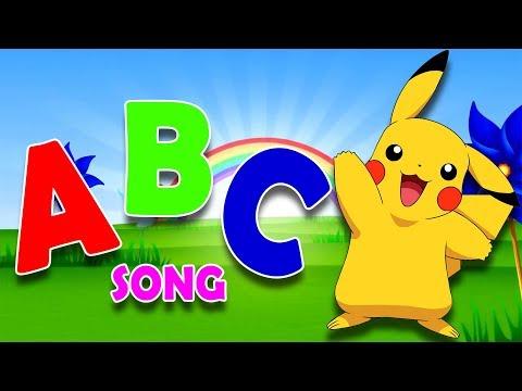 POKEMON Pickachu ABC Song | ABCD Alphabet Songs | ABC Songs for Children - 3D ABC Nursery Rhymes