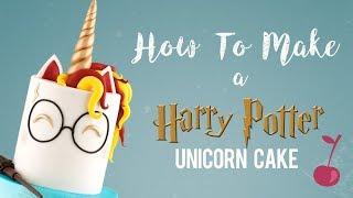 Harry Potter Unicorn Cake Tutorial   How To   Cherry School