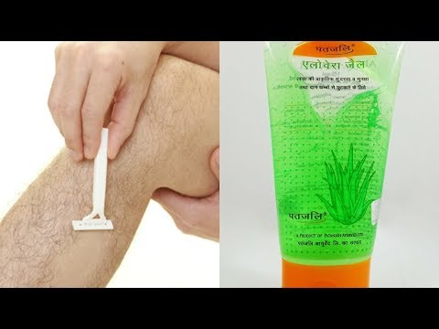 How to use PATANJALI ALOE VERA GEL for best SHAVE with razor !? Video with demo on Legs